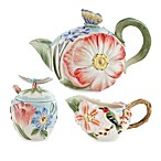 Fitz & Floyd Flourish 3-Piece Teapot Set