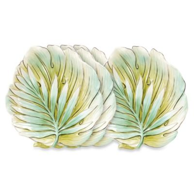 Fitz and Floyd® Cockatoo 9-Inch Canape Plates (Set of 4)