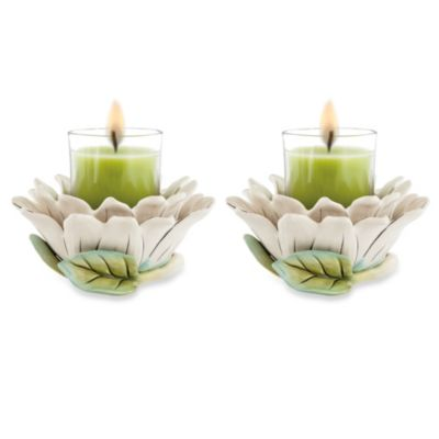 Fitz & Floyd Cockatoo 3-Inch Votive Holders (Set of 2)