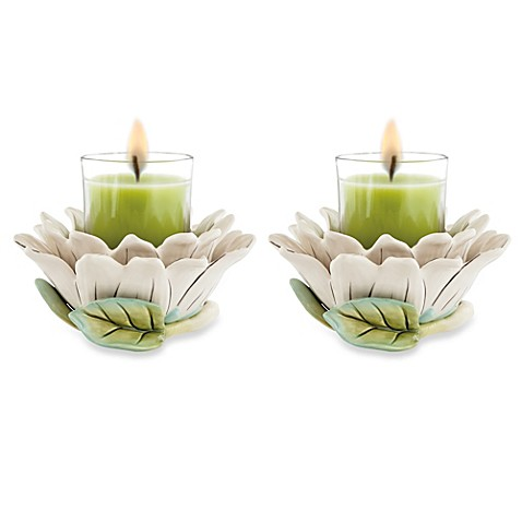 Fitz and Floyd® Cockatoo 3-Inch Votive Holders (Set of 2)