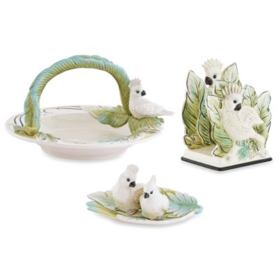 Fitz & Floyd Cockatoo Accent 3-Piece Serving Set