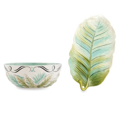 Fitz & Floyd Cockatoo 2-Piece Serveware Set