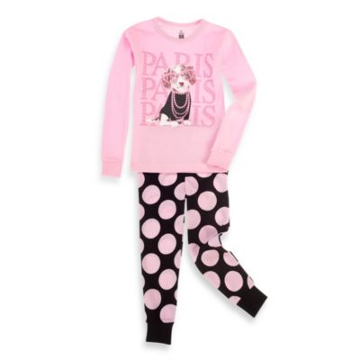 Petit Lem™ 2-Piece Long Pajamas in Paris Dog