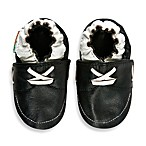 MomoBaby Soft Sole Leather Sneakers in Loafer Black