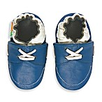 MomoBaby Soft Sole Leather Sneakers in Blue Loafer