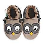 MomoBaby Soft Sole Leather Sneakers in Owl Taupe