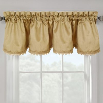 Marquis Lined Valance with Gimp Trim