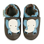MomoBaby Soft Sole Leather Sneakers in Elephant Light Blue Taupe