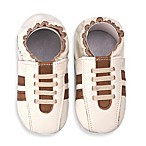 MomoBaby Soft Sole Leather Sneakers in Tennis Cream