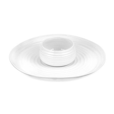 Sophie Conran for Portmeirion® White 12-Inch Chip and Dip 2-Piece Set