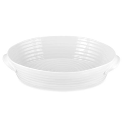 Sophie Conran for Portmeirion® White 13.5-Inch Large Handled Oval Roasting Dish