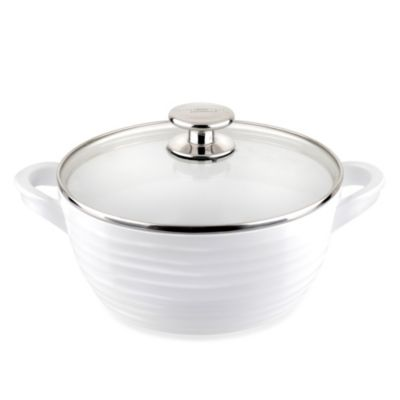 Sophie Conran for Portmeirion® White 8-Inch Medium Casserole Dish