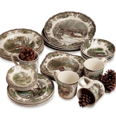 Johnson Brothers Friendly Village 28-Piece Dinnerware Place Setting