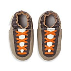 MomoBaby Soft Sole Leather Sneakers in Lace Up Brown