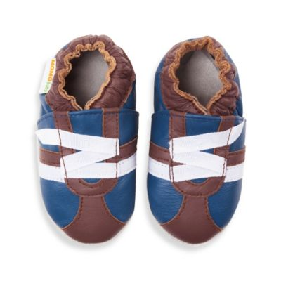MomoBaby Size 12 - 18 Months Soft Sole Leather Sneakers in Z-Strap Brown
