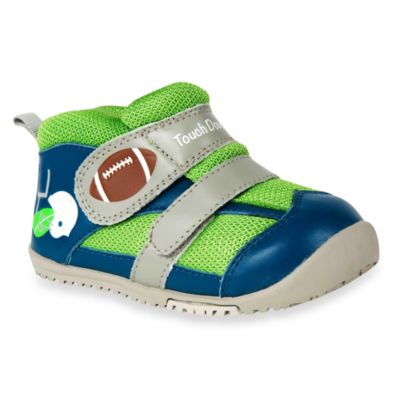 MomoBaby Size 6.5 Touchdown Leather Sneakers in Navy