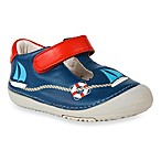 MomoBaby Toddler Sailor Leather T-Strap Shoes in Navy