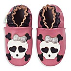 MomoBaby Skull Soft Sole Leather Shoes in Pink