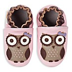 MomoBaby Spotted Owl Soft Sole Leather Shoes in Pink