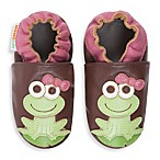 MomoBaby Leather Frog Soft Sole Shoe in Brown