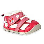 MomoBaby Leather Sneakers in Daisy & Butterfly Pink