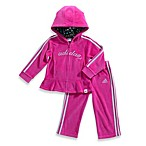 Adidas® Track Set in Pink Velour