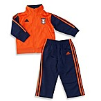 Adidas® Track Set in Navy/Orange Stripe