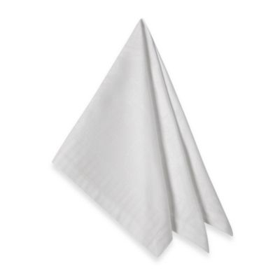 Garnier-Thiebaut Appoline 21-Inch x 21-Inch Damask Napkins in White (Set of 4)