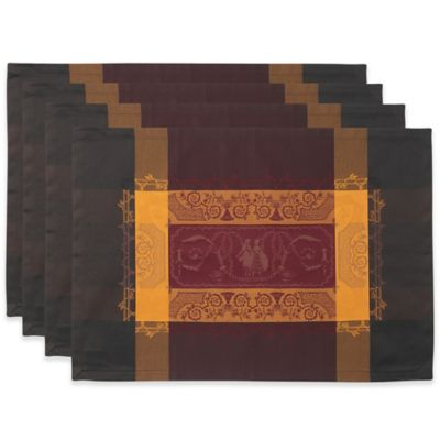 Garnier-Thiebaut Bagatelle Velours 21-Inch x 15-Inch Damask Placemats (Set of 4)