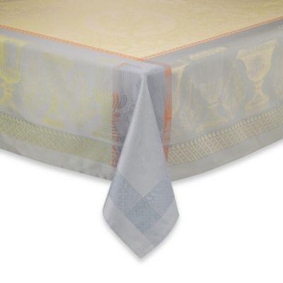 Garnier-Thiebaut Flanerie Ondee 69-Inch x 100-Inch Damask Tablecloth