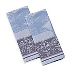Garnier-Thiebaut Hortensia Bleu 22-Inch x 30-Inch Kitchen Towels (Set of 2)