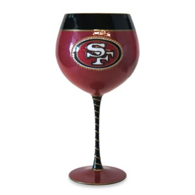 NFL San Francisco 49ers 33-Ounce Artisan Wine Glass
