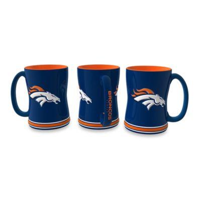 NFL Denver Broncos Ceramic Sculpted Relief Mug