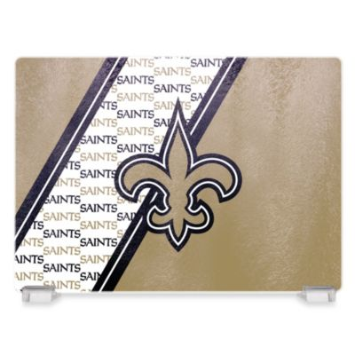 New Orleans Saints Tempered Glass Cutting Board