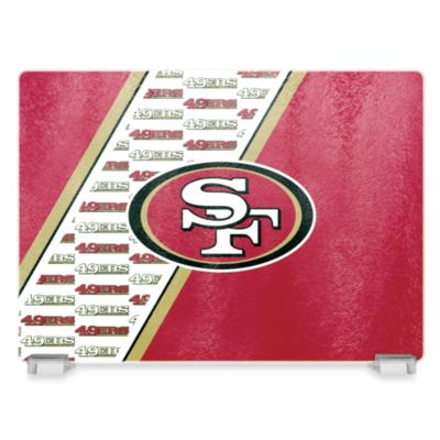 San Francisco 49ers Tempered Glass Cutting Board