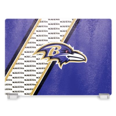 NFL Baltimore Ravens Tempered Glass Cutting Board