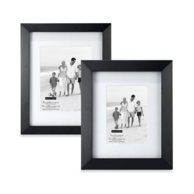 Malden® Berkeley Matted 5-Inch x 7-Inch Picture Frame in Black