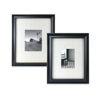 Malden® Barnside Matted Picture Frame in Black
