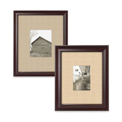 Barnside Matted Picture Frame in Espresso