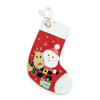 Santa and Reindeer Stocking