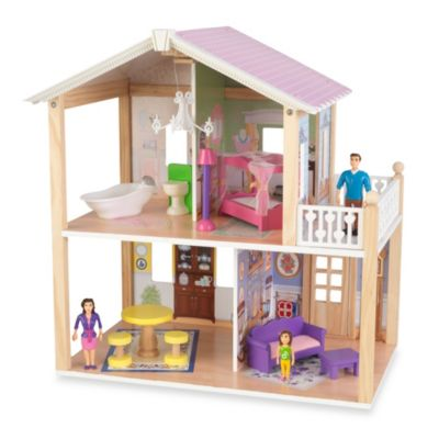 KidKraft® Deluxe Country Lane Cottage Dollhouse with Furniture
