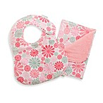 C.R. Gibson iotababy! Newborn Bib & Burp Set in Flower Girl