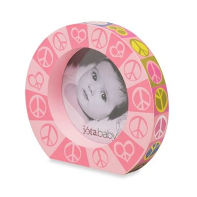C.R. Gibson® iotababy! Round Wooden Photo Frame in Dolly Lama