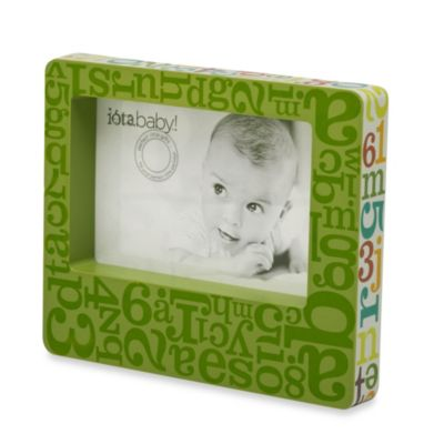 C.R. Gibson iotababy! Wooden Photo Frame in Alphabet Soup