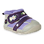 MomoBaby Toddler Field of Flowers Leather Sneakers in Purple