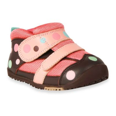 Momo Baby Toddler Polka Dots Leather Sneakers in Brown