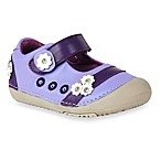 MomoBaby Toddler Daisy Days Leather Mary Jane Shoes in Purple