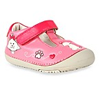 MomoBaby Toddler Kitty Cat Leather T-Strap Shoes in Pink