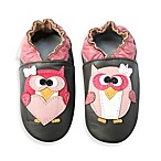 MomoBaby Soft Sole Pretty Owl Leather Shoes in Brown