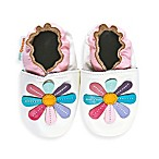 MomoBaby Soft Sole Rainbow Lily Leather Sneakers in White